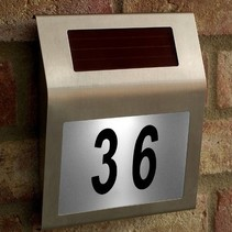 Led Solar House Number Plate with Light