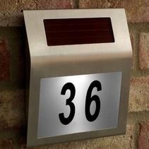 LED-Solarhausnummernschild
