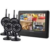 Wireless Beveiligingscamera set met 4 Cameras Draadloos met Scherm