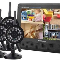 Wireless Security Set mit 4 Wireless-Kameras