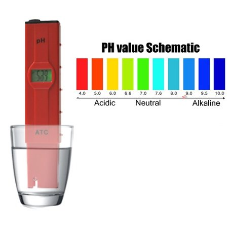 Geeek Digital PH Meter Tester Pool Aquarium Water Acidity Tester