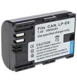 Geeek  Accu / Batterij voor Canon LP-E6 - 1800 mAh