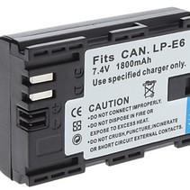 Accu / Batterij voor Canon LP-E6 - 1800 mAh