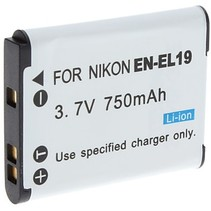 Battery for Nikon EN-EL19  - 750 mAh