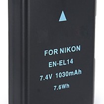 Battery for Nikon EN-EL14 - 1030 mAh