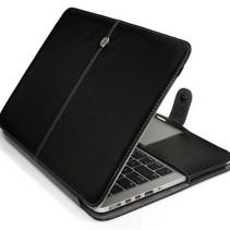 dünne Lederhülle für MacBook 12-Zoll - Schwarz