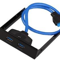 2 Poorten USB 3.0 Front Adapter Zwart