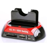 Geeek All-in-one Dual HDD Docking Station Backup-IDE-Festplatte Kartenleser