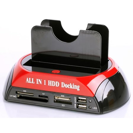 Geeek All in 1 Dual HDD Docking Station Backup IDE HDD Card Reader