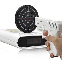 Waffenwecker - Wecker Kinder - Digitaler Wecker - Wecker Wecker - Wecker Pistole - Weiß