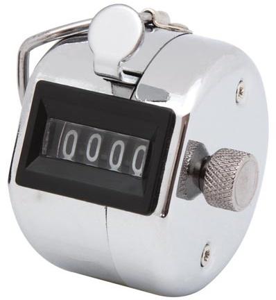 Met deze analoge handteller kun je alle telprocedures, zoals registratie van bewegingsprocessen, stukgoed, ...