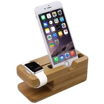 Bambus-Holz-Docking-Station-Dock für Apple Watch und iPhone