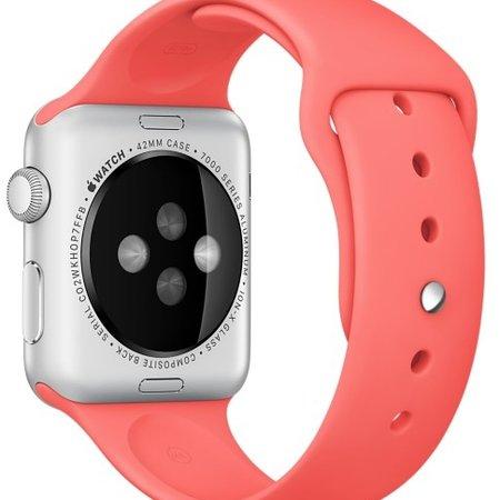 Geeek Silicone Rubber Sport Strap 42 mm Sportbandje voor Apple Watch - Roze