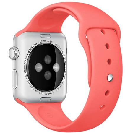 Geeek  Silicone Rubber Sport Strap 42 mm Sportband for Apple Watch - Pink