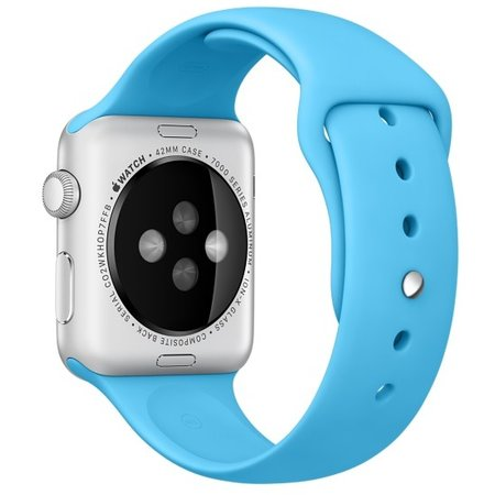 Geeek  Silicone Rubber Sport Strap 42 mm Sportband for Apple Watch - Blue