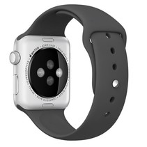 Silicone Rubber Sport Strap 42 mm Sportbandje voor Apple Watch - Zwart