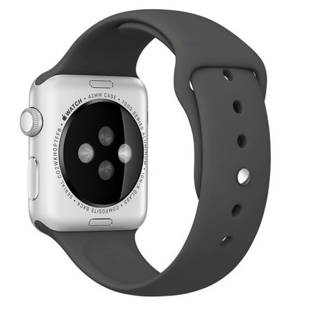 Geeek  Silicone Rubber Sport Strap 42 mm Sportband for Apple Watch - Black