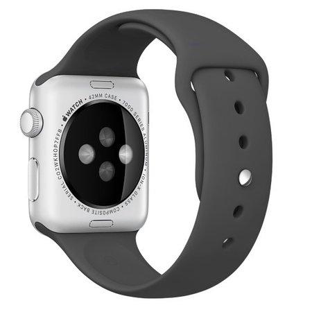 Geeek  Silikonkautschuk Sportband 42 mm Sportband für Apple Watch - Schwarz