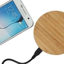 Universele Houten Wireless Plate Draadloze Oplader Oplaad Pad Rond