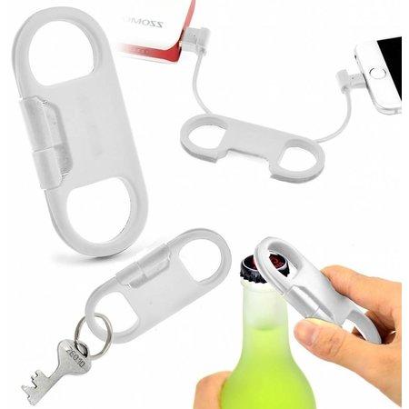 Geeek Sleutelhanger Lightning Apple USB Kabel met Bieropener