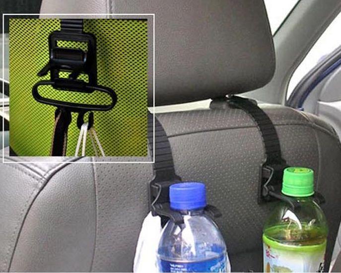 Deze universele boodschappentas  en fleshouder is geschikt voor de meeste autostoelen met hoofsteun. ...