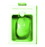 Geeek Fruit Series Mouse - Apple 2,4Ghz Draadloze muis groen
