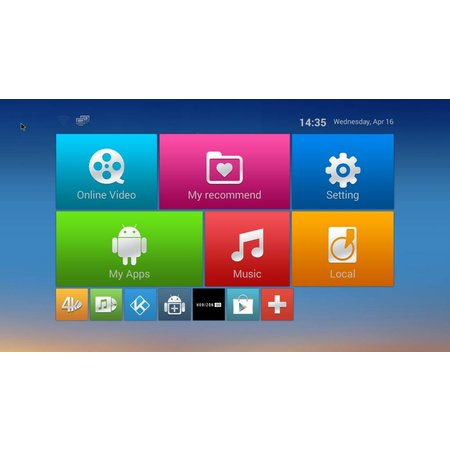 Geeek M8S Android TV Media Player HEVC Kodi Popcorn-Spieler