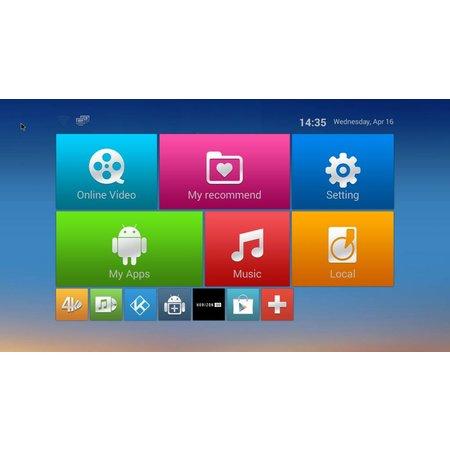 Geeek M8S Android TV Mediaspeler HEVC Kodi Popcorn Player