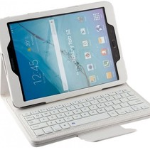 Bluetooth Keyboard Case Cover Samsung Tab 9.6 E White