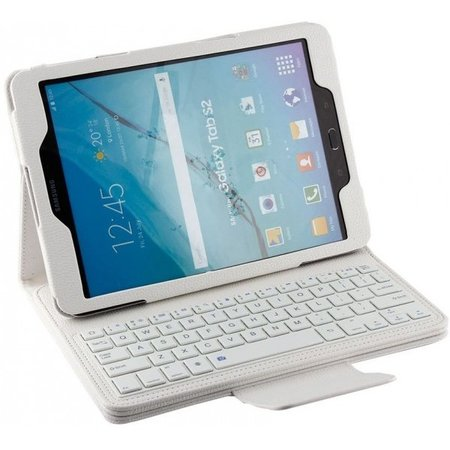 Geeek Bluetooth Toetsenbord Case Cover Samsung Tab E 9.6 Wit