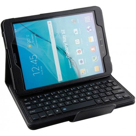 Geeek Bluetooth Toetsenbord Case Cover Samsung Tab E 9.6 Zwart