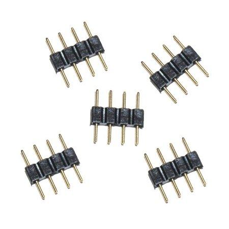 Geeek RGB-LED-Anschluss 4PIN Doppel männlich (5 Stück)