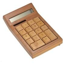 Bamboo Wooden Calculator Calculator