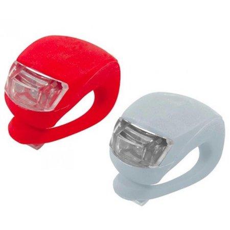Geeek LED-Fahrradlicht 2 Stück (rot und weiß)