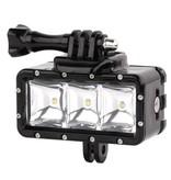Geeek Onderwater POV LED Verlichting voor GoPro Hero - Waterdicht