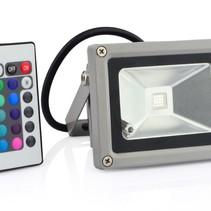10W LED Schijnwerper Bouwlamp RGB Verstraler