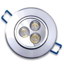 LED Inbouwspot 3 Watt Rond Warm Wit 3 stuks