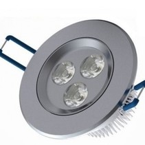 Recessed LED 3 Watt Round Cold White 3 pieces