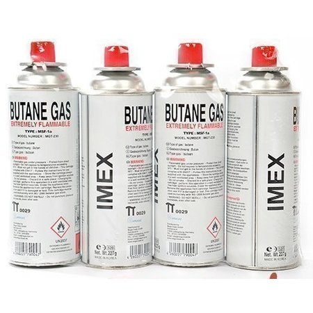 IMEX Imex Butaangaspatroon 227 g Butane Gas Portable Gas hob Camping (4 piece)
