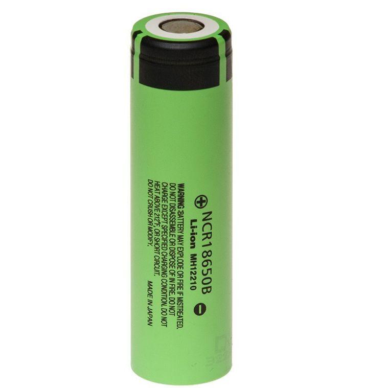 Ncr18650b 3350mah li ion oplaadbaar batterij accu, in de unprotected uitvoering. zonder protectie circuit, ...