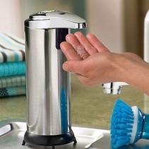 Luxus Automatischer Seifenspender Touch Freie Seifenspender Edelstahl-Look