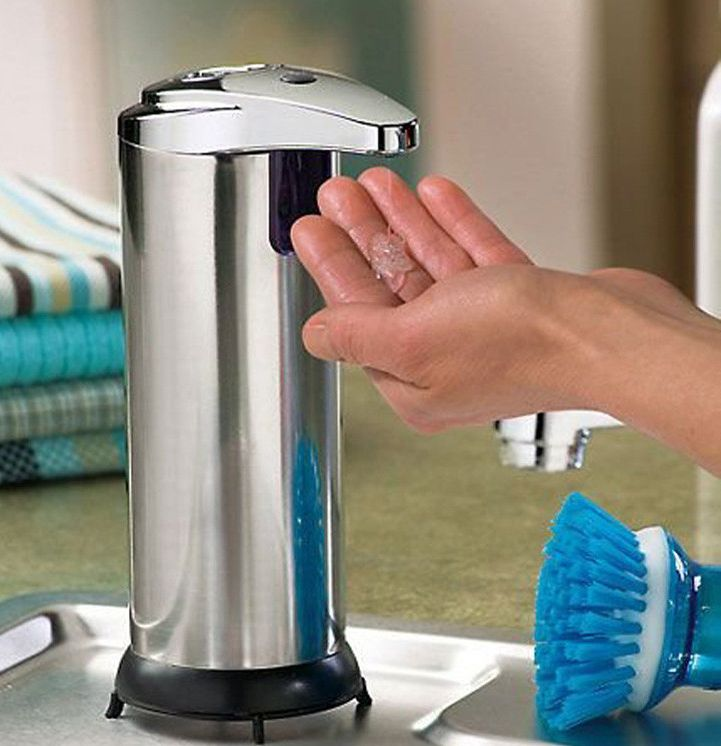 Luxe Automatische Zeepdispenser Touch Free Soap Dispenser RVS Look