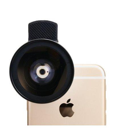 Geeek Universeel Smartphone Super 0.45X Wide Angle Lens 15X Macro Lens Round