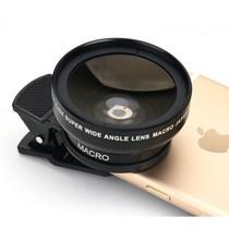 Universeel Smartphone Super 0.45X Wide Angle Lens 15X Macro Lens Round
