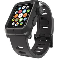 EPIK Polycarbonate Case met Silicone Band Apple Watch 42mm Zwart