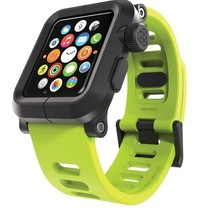 EPIK Polycarbonat-Gehäuse mit Silikon-Band Apple Watch 42mm Grün