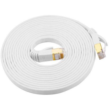 Geeek CATE7 10 Meter Platte High Speed Lan Network Cable UTP White