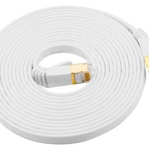 CATE7 20 Meter Platte High Speed ​​LAN Network Cable UTP White