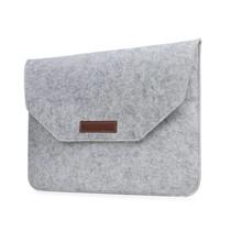 11 en 12 inch Macbook Laptop Soft Sleeve Case Grijs