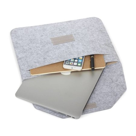 Geeek 11 & 12 inch MacBook Laptop Soft Sleeve Case Grey